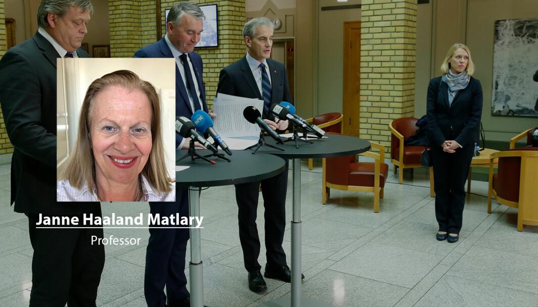 Opposisjonen kunne sørget for bedre finansiering av Forsvaret, skriver Janne Haaland Matlary. Her ser vi blant andre Jonas Gahr Støre (Ap) og Anniken Huitfeldt (Ap).