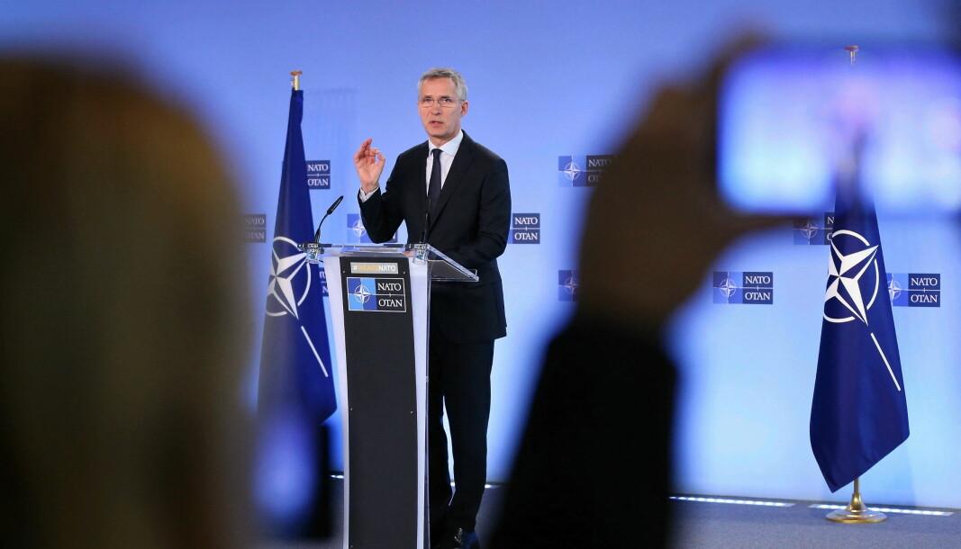 Nato-rådet møttes fredag 22. mai. Møtet kom i stand etter at USA varslet at de vil trekke landet fra Open Skies-avtalen.