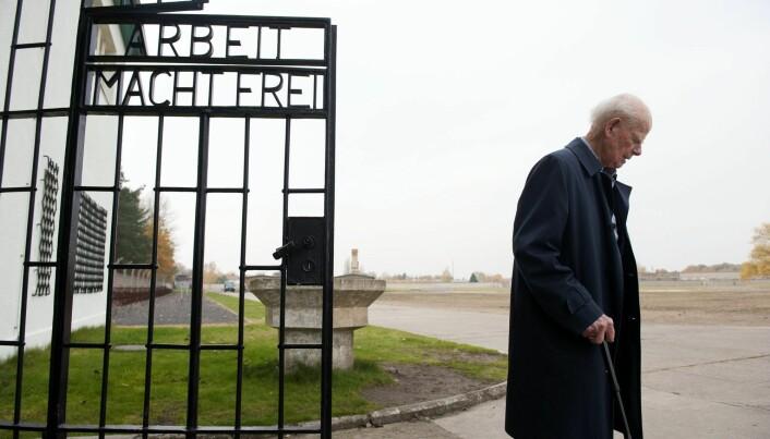Bernt Lund i konsentrasjonsleiren Sachsenhausen.