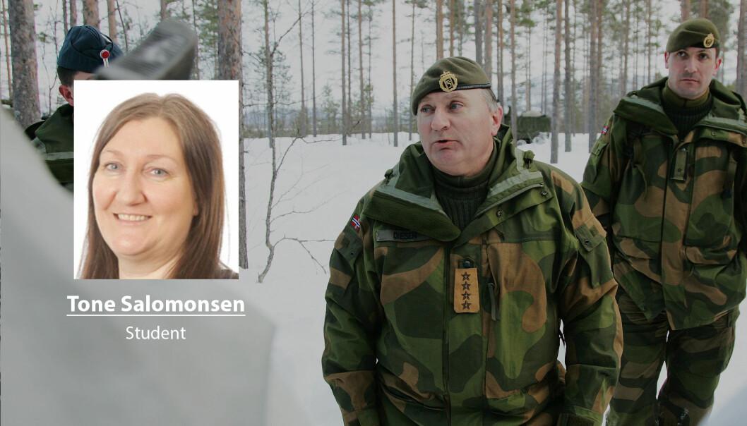 Det er lett å finne igjen tankene til tidligere forsvarssjef Sverre Diesen i regjeringens langtidsplan for Forsvaret, skriver Tone Salomonsen. Her ser Diesen under en øvelse da han var forsvarssjef.