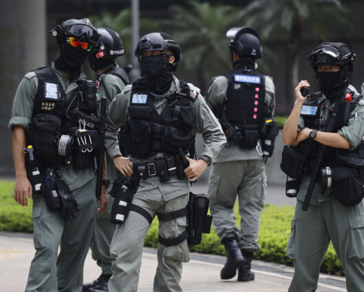 Tåregass og pepperspray mot demonstranter i Hongkong