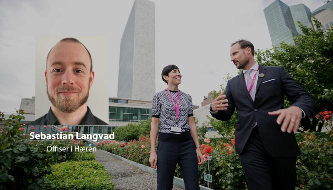 Vi bør trappe opp vår deltakelse i FNs farligste fredsbevarende operasjoner, skriver Sebastian Langvad. Her ser vi utenriksminister Ine Eriksen Søreide og kronprins Haakon da Norge lanserte sitt kandidatur til en plass i FNs sikkerhetsråd.