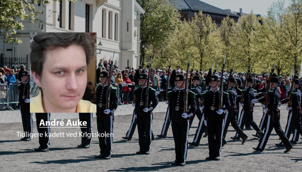 Ved å dele ut medalje for «såret i tjeneste» og en takk til alle som har ofret noe i sin innsats for Forsvaret, ville gitt en anerkjennelse jeg ville blitt svært takknemlig for, skriver André Wihelm Auke. Her ser vi markeringen av 8. mai på Akershus festning.