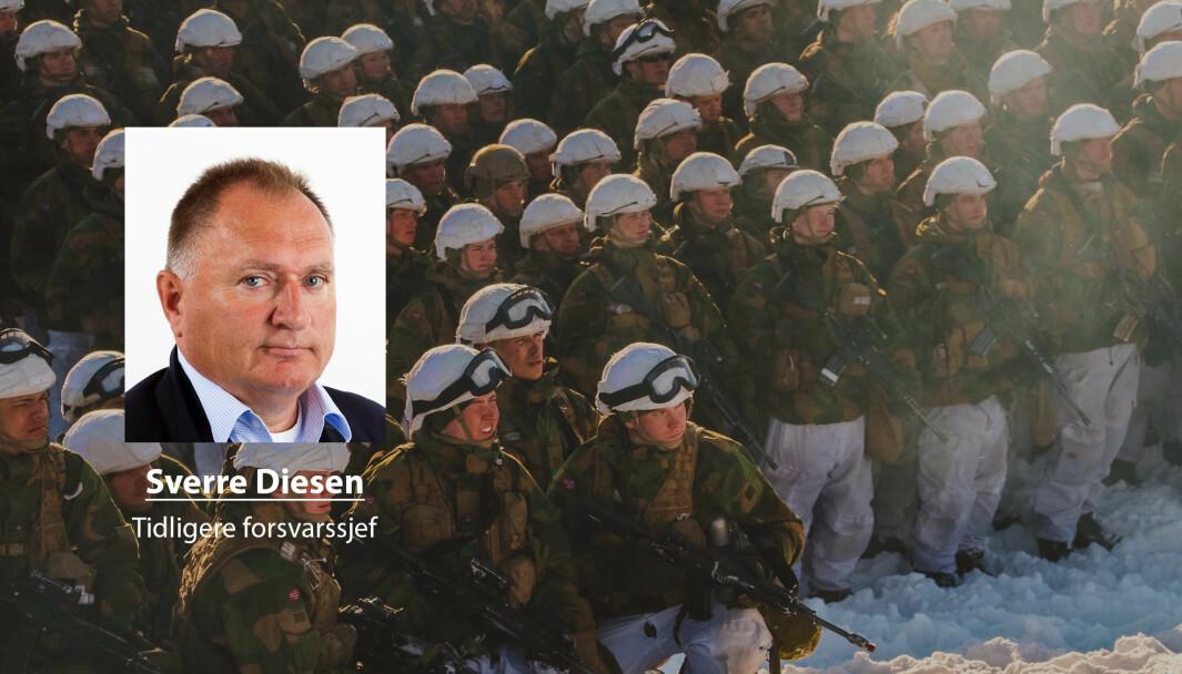 Det er bare forsvarssjefen som forvalter både oversikten over og ansvaret for helheten – i motsetning til blant annet grensjefene, skriver Svere Diesen. På bildet ser vi rekrutter i Finnmark.