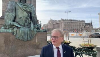 Forsvarsminister Peter Hultqvist. Foto: Odd Inge Skjævesland.