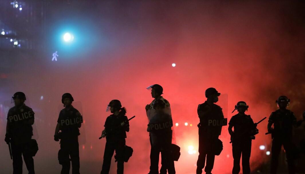 Politistyrker i Washington, nå er også nasjonalgarden kalt inn i flere stater.