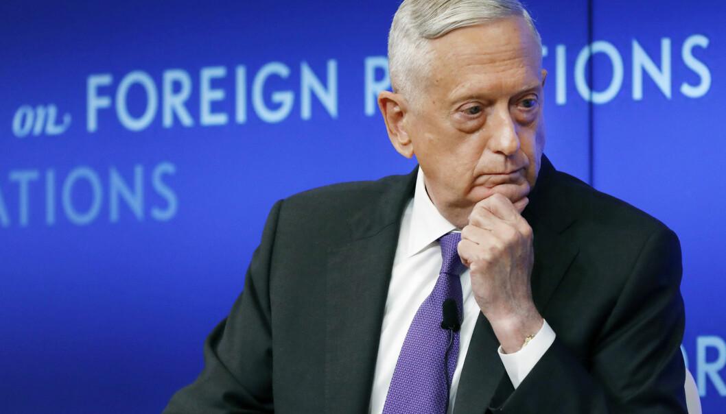 Tidligere forsvarsminister i USA James Mattis.