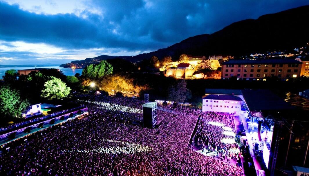 Dette bildet er fra en tidligere konsert med Rihanna på Koengen i Bergen.