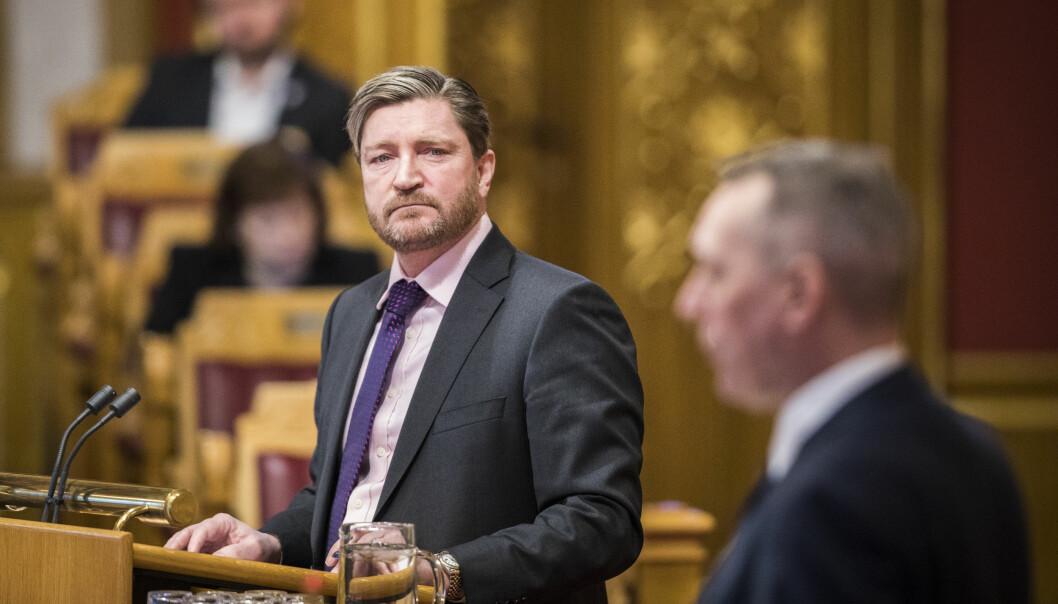 Christian Tybring-Gjedde (FrP) under stortingets muntlige spørretime.
