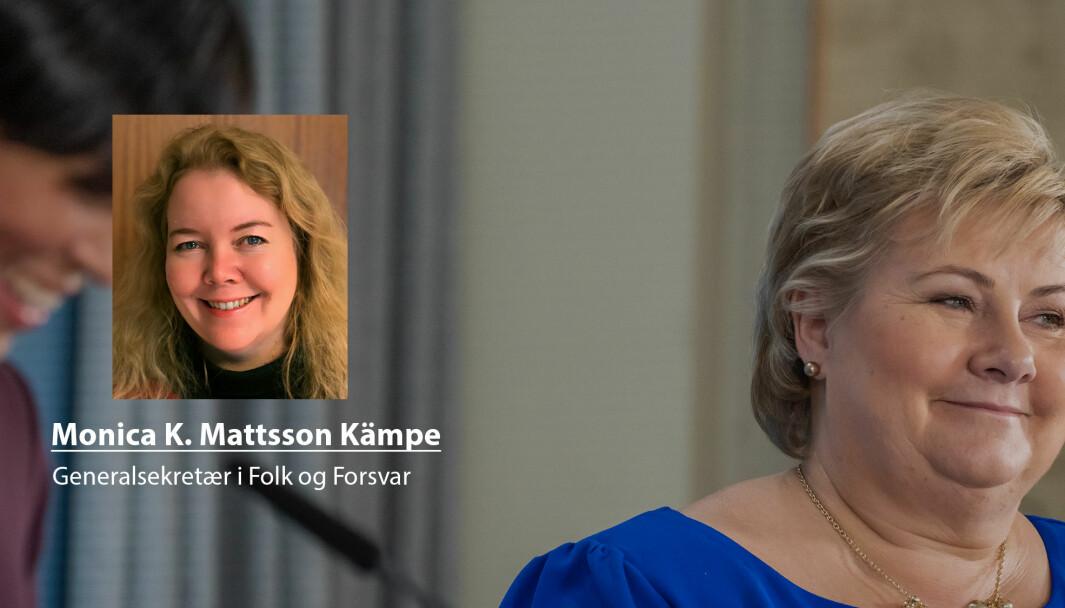 Ved en plass i Sikkerhetsrådet vil Norge ha en mulighet til å sette dagsorden, skriver Monica K. Mattsson Kämpe. Her holder statsminister Erna Solberg og utenriksminister Ine Eriksen Søreide pressekonferanse etter det ble klart at Norge fikk plass i rådet.