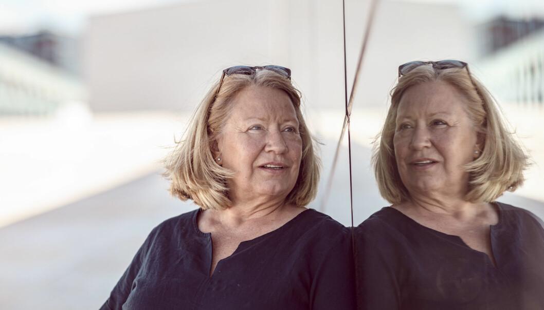 Britt Tove Berg Brestrup var kollega med Solveig Lystads datter Siv. Slik fikk hun kjennskap til motstandskvinnen.