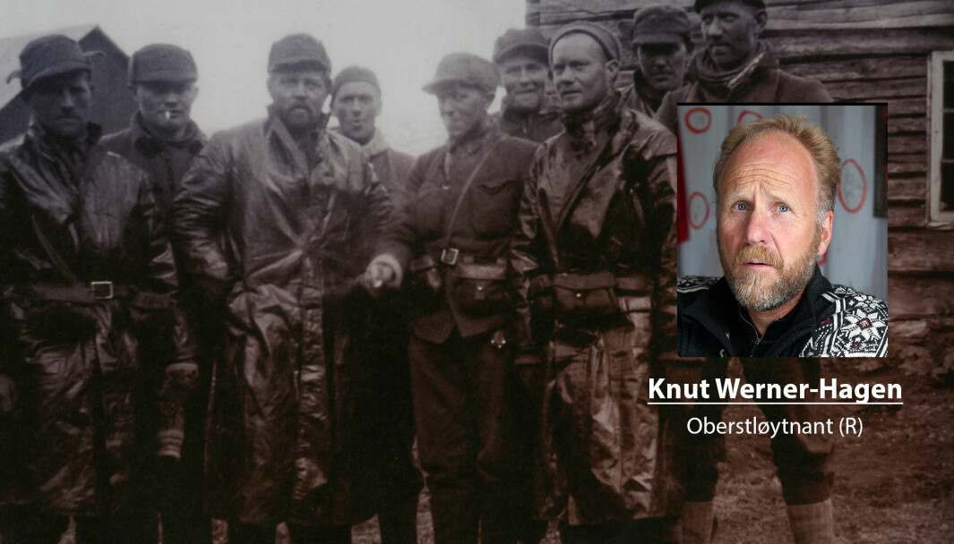 Styrkeforholdende mellom partene har blitt feil presentert, skriver Knut Werner-Hagen. Her ser vi norske soldater i et mitraljøsekompani i Salangsdalen.