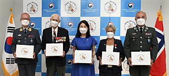 Markerte koreakrigen med maskegave