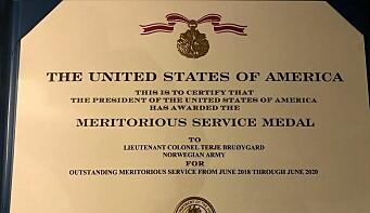 Medaljen gis for fremragende fortjenstfull tjeneste.