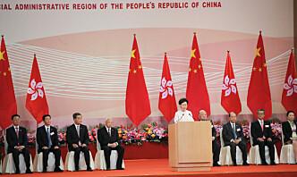 Hongkongs leder hyller Kinas sikkerhetslov