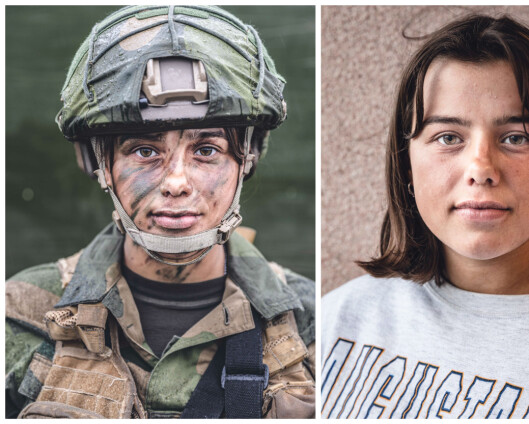 Kanon og kunst: Ida Maries portrett av den nye forsvarssjefen skal henge på Akershus festning