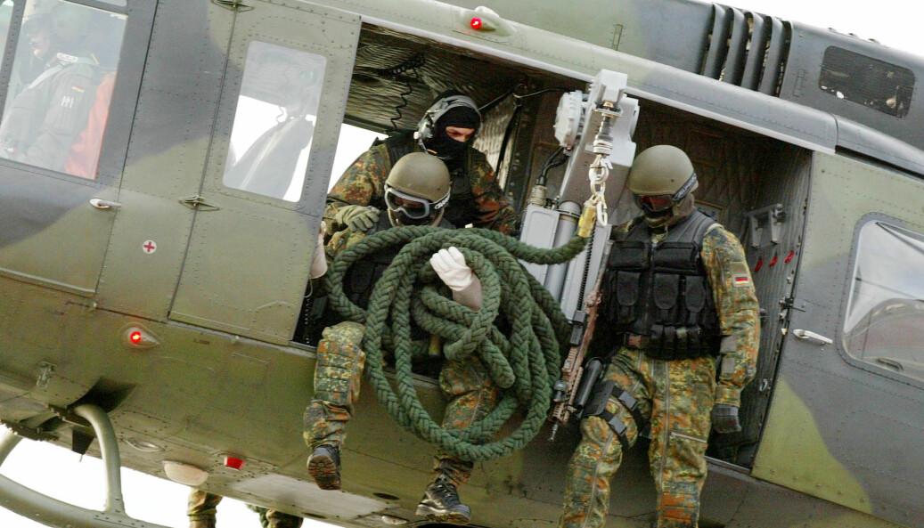 Dette bildet fra 2004 viser soldater for spesialenheten som er anklaget for utbredt ekstremisme blant personellet.