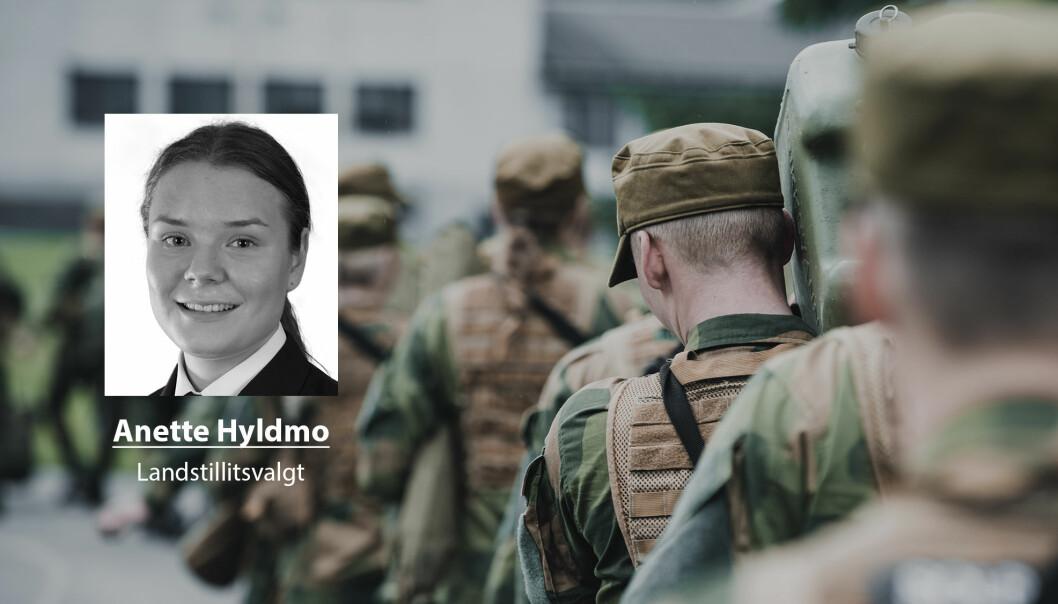 Vernepliktige er samfunnets øyne inn i Forsvaret, skriver Anette Hyldmo som mener Forsvaret må bli flinkere til å gi meningsfulle oppgaver under førstegangstjenesten.