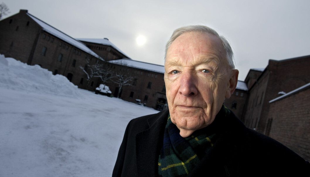 Arne Pran avbildet på Akershus festning i 2011.