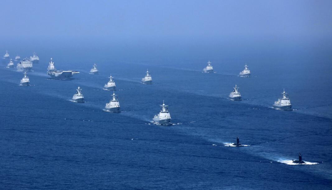 Ifølge en ny rapport vil Kinas tilstedeværelse og strategiske interesse i Arktis ha «sikkerhetspolitiske implikasjoner». Her ser vi kinesiske fartøy i nærheten av Taiwan under en øvelse i 2018.