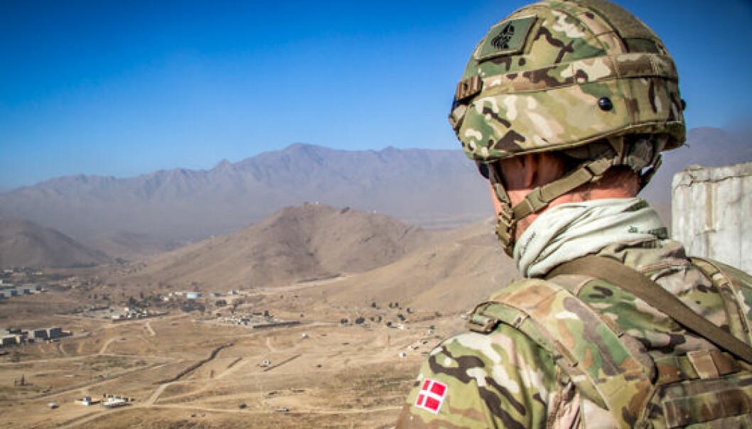 Dansk soldat i Afghanistan.