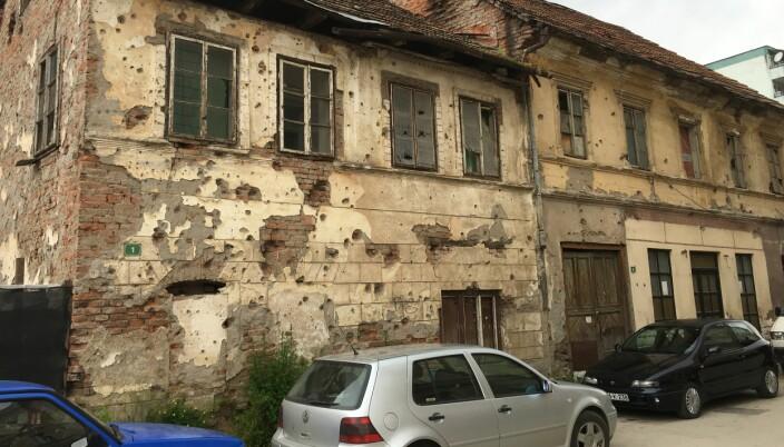 Minnenen fra krigen i Bosnia er mange, her fra et hus i byen Gorazde