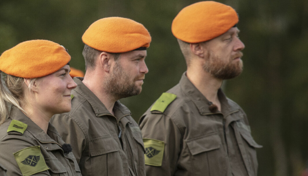 Geir Aker, helt til høyre, er aktuell i serien Kompani Lauritzen.