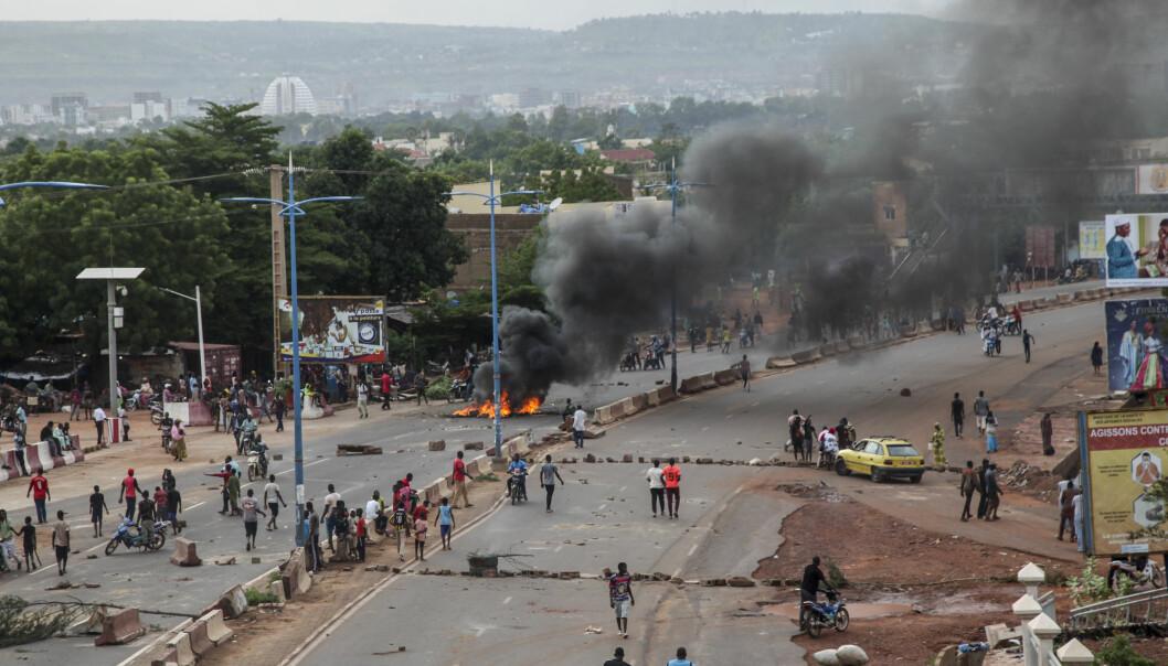 Kraftige sammenstøt i Malis hovedstad Bamako i forrige uke. FN er svært urolig over utviklingen i landet.