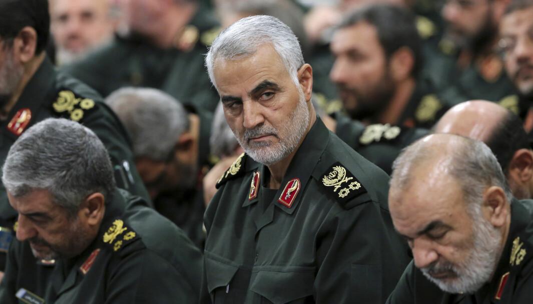 En tidligere oversetter er henrettet i Iran, dømt for å ha bidratt til at general Qasem Soleimani (bildet) ble lokalisert og senere drept i et amerikansk droneangrep. Bildet er tatt i Teheran i 2016.