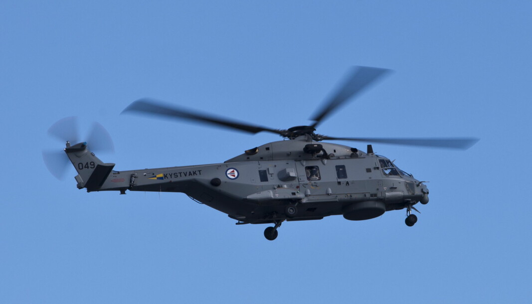 Et nederlanske NH90-helkiopter har styrtet i Det karibiske hav. Dette er samme typen helikopter som brukes av det norske Forsvaret. Bildet viser et NH90 som tilhører Kystvakten.