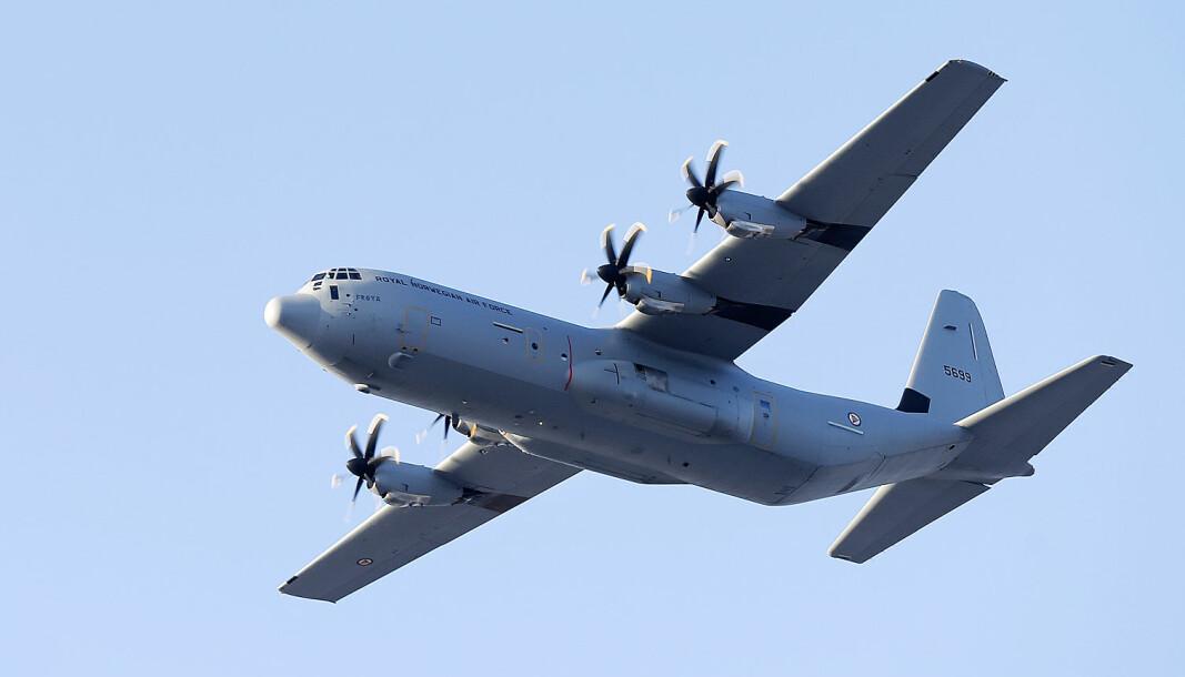 Det var et Hercules C-130J som var involvert i nestenulykken under øvelse Cold Response i mars 2020.