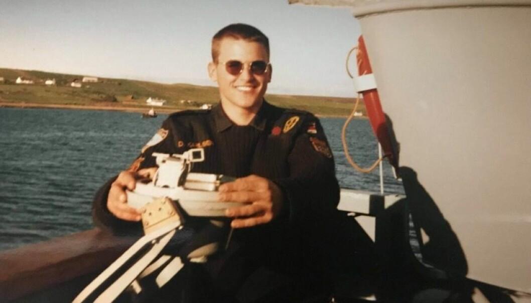 18 år gamle Daniel Karlsen i 1996.