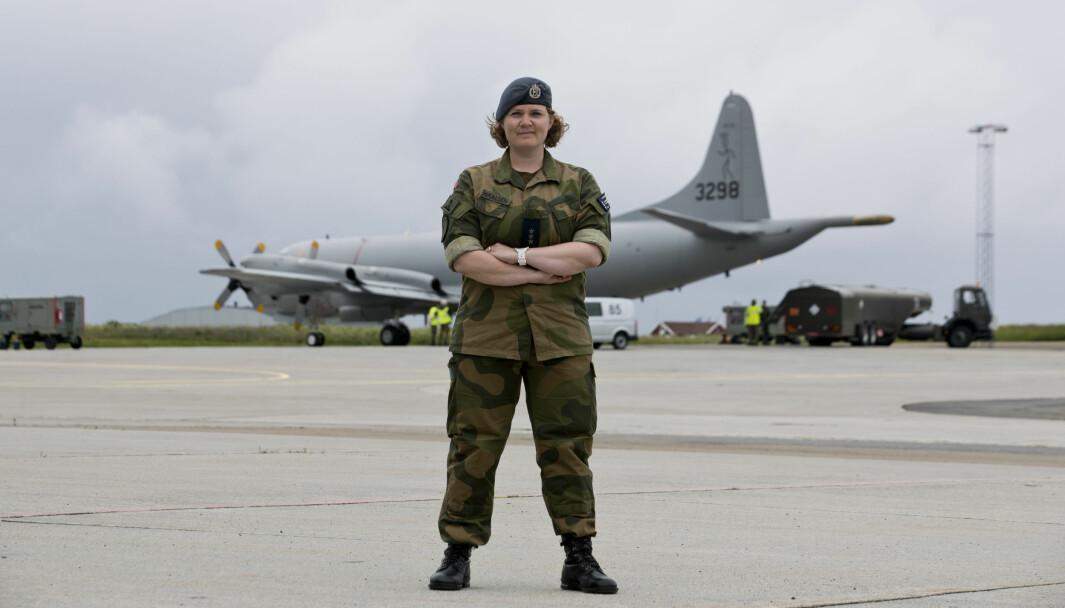 Hanna Sesselja Mikalsen, kaptein i Luftforsvaret.