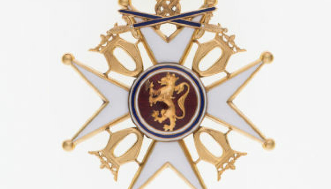 St. Olavs Orden: Kommandør med sverd.