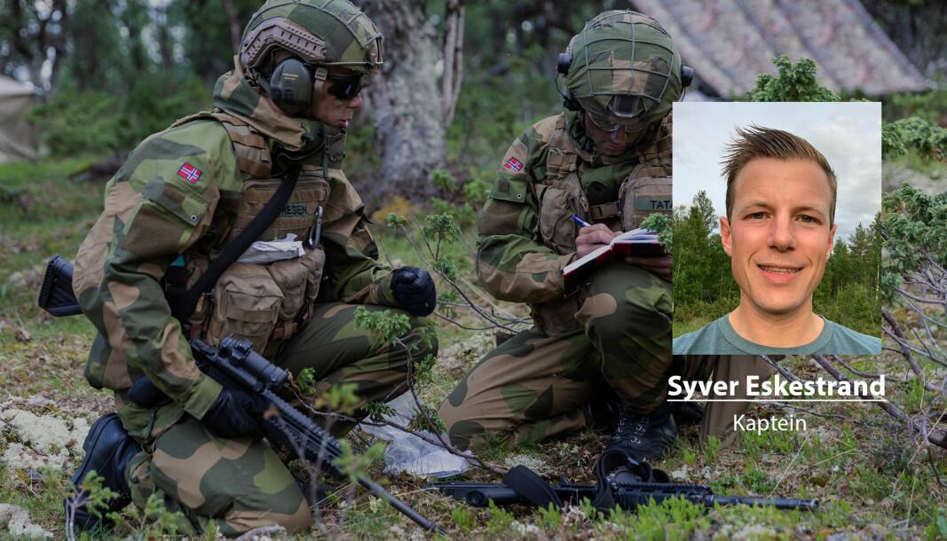 Historien er full av eksempler på land som ikke har investert i nødvendig teknologi og materiell, skriver Syver Eskestrand. Her ser vi soldater under en øvelse i 2020.