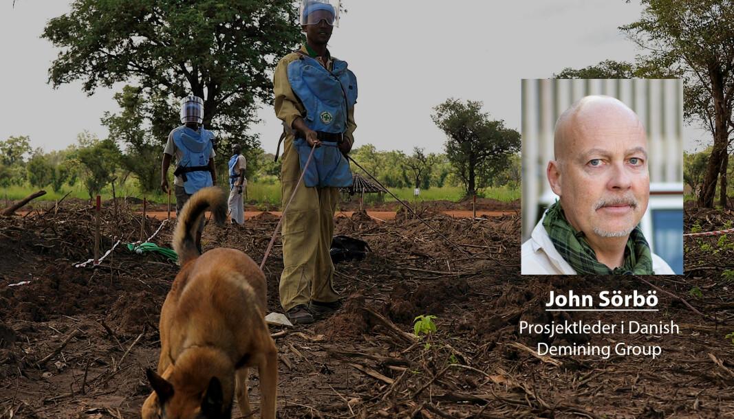 Personell som tilhører humanitære organisasjoner bør også kunne kalle seg veteraner, skriver John Sörbö. Dette bildet er fra minerydding i Sør-Sudan.