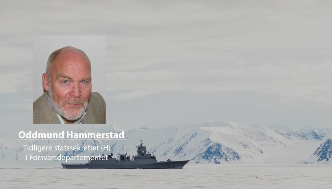 Lavspenning i Nordområdet og hele Arktis må være en tindrende klar og godt kommunisert politikk fra norsk side, skriver Oddmund Hammerstad. Her ser vi den norske fregatten Roald Amundsen utenfor Svalbard.