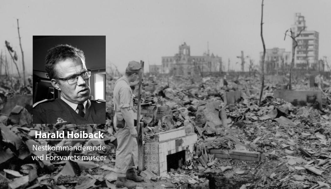Atomvåpen har tjent oss godt etter 2. verdenskrig, skriver Harald Høiback. På bildet ser vi resultatet at atombombenedslaget i Hiroshima i 1945.