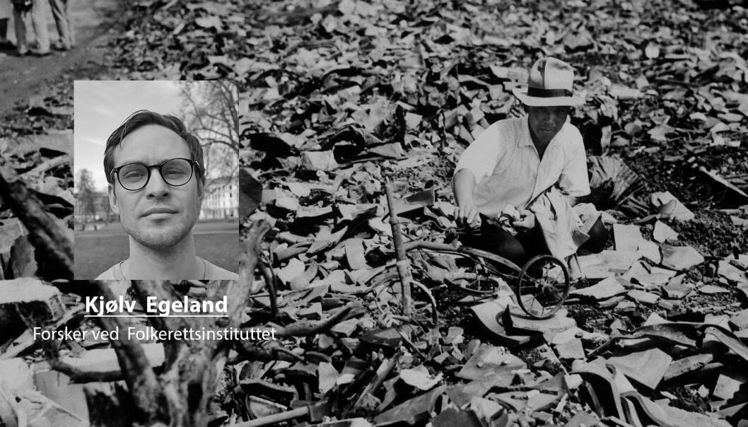 Det endelig tallet på døde som følge av atombombene som ble sluppet av Hiroshima og Nagasaki er ennå ikke klart, skriver Kjøv Egeland. Her ser vi resultatet etter bomben over Nagasaki.