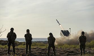 Øver med kampfly og NASAMS