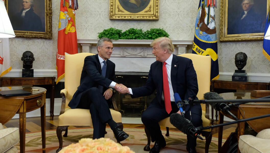 Generalsekretær Jens Stoltenberg besøkte USAs president Donald Trump i mai 2018. Foto: Nato