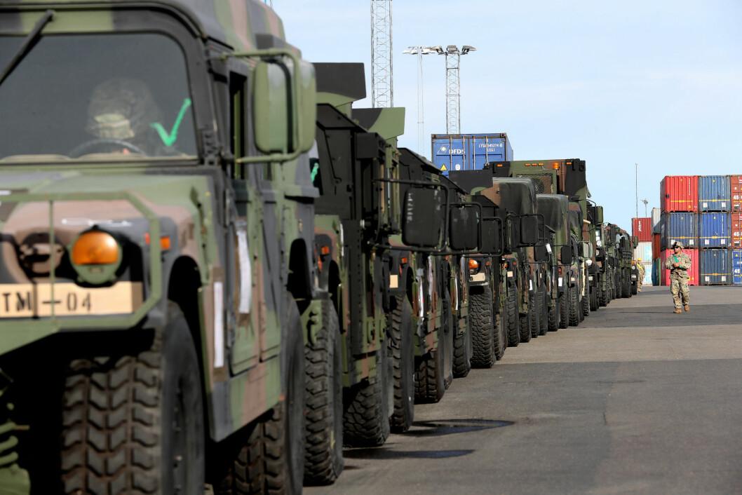 TRIDENT JUNCTURE: Nato forbereder seg på høstens storøvelse i Norge. Foto: TORBJØRN KJOSVOLD