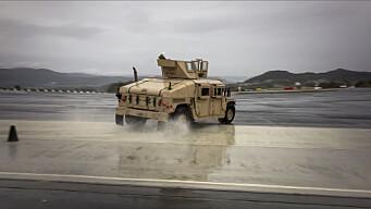 Amerikanerne lærer å kjøre på glatta før Nato-øvelse