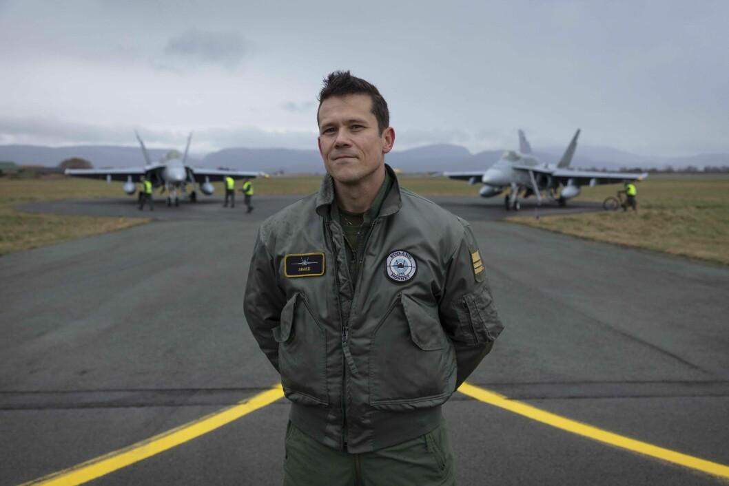 Sjef. Saku «Shake» Joukas er styrkesjef for det finske F-18 bidraget på Ørland under Trident Juncture.