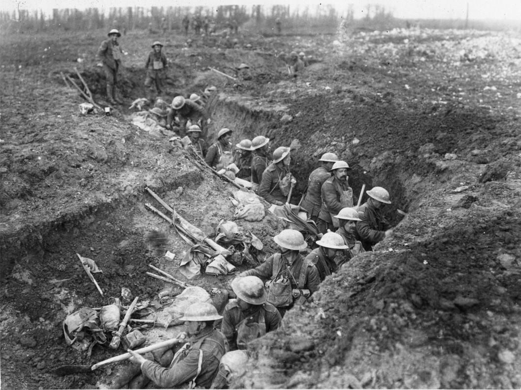 Usikker: Det er 100 år siden 1. verdenskrig tok slutt. Vi kan ikke være trygge på ikke å havne i en ny altomfattende krig, skriver Harald Høiback (Foto: National Library of Scotland)