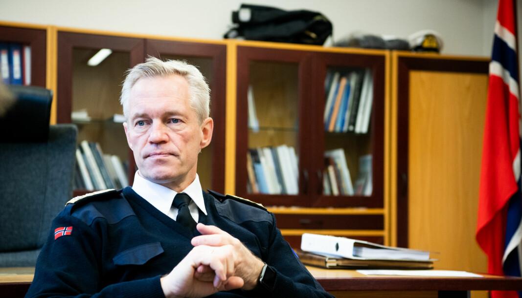 Følelser: Forliset av KNM Helge Ingstad har gått inn på Nils Andreas Stensønes og resten av Sjøforsvaret. Dette bildet ble tatt kort tid etter Helge Ingstad-forliset.