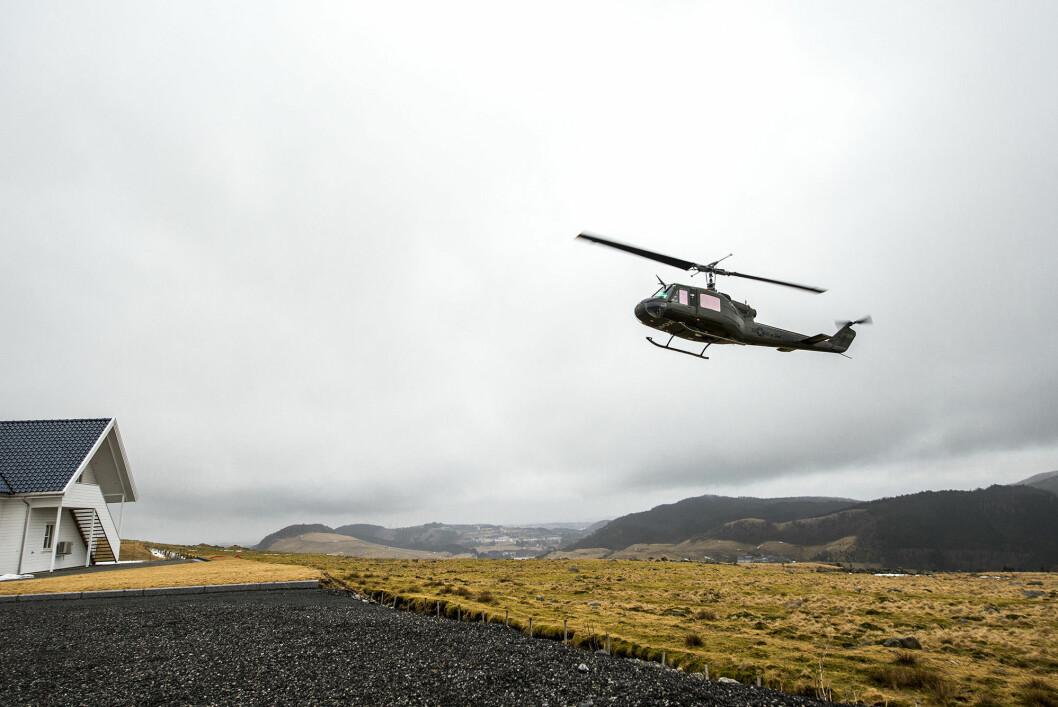 Stig Bakke har et helikopter som ble brukt under vietnamkrigen fra 1967-1970.
