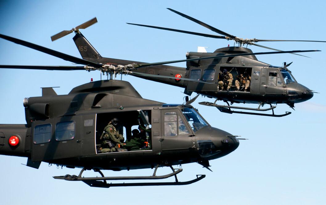 DELES: Regjeringen ønsker delt helikopterløsning for Bell 412 mellom Rygge og Bardufoss som sikrer dedikert støtte til spesialstyrkene.