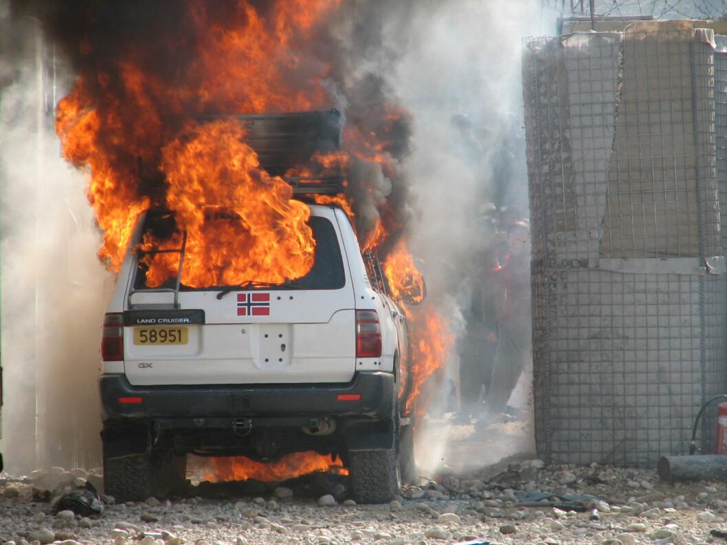 Flere av soldatene som er intervjuet i «Voldsbruk og livsfare» var i Afghanistan under angrepet på leiren i Meymaneh i 2006. Foto: Forsvaret.