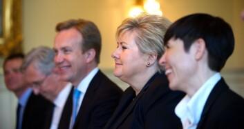 <B>LUNSJ:</B> Erna Solberg sammen med utenriksminister&nbsp;Børge Brende og forsvarsminister Ine Eriksen Søreide.&nbsp;